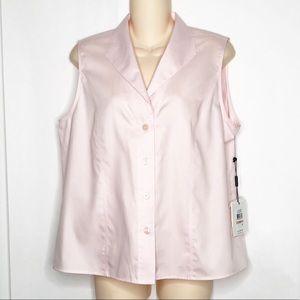 Calvin Klein Pastel Pink Non-Iron Button Down Tank